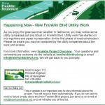 8-8-16 E-Update Happening Now - New Franklin Blvd Utility Work_
