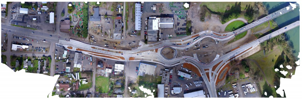 Aerial Photo of Franklin Roundabouts from March 12, 2018